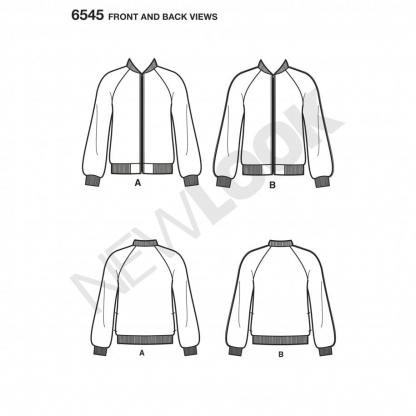 New Look – Patron Femme Veste n°6545 du 34 au 46