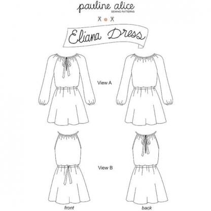 Pauline Alice - Patron Robe Femme Eliana du 34 au 48