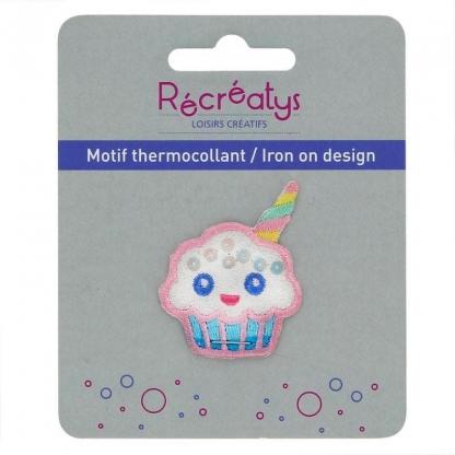 "Récréatys - Motif Thermocollant ""Cupcake Licorne"""