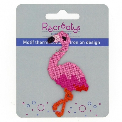 "Récréatys - Motif Thermocollant ""Flamant Rose"""