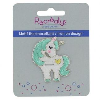 """Récréatys - Motif Thermocollant """"Licorne Vert Menthe"""""""