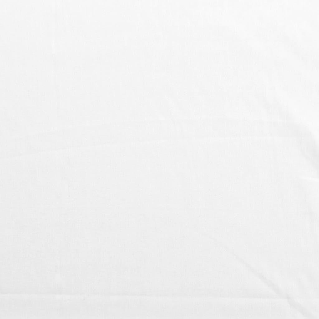 Rose & Hubble   Tissu Popeline de Coton Uni Couleur Blanc Cassé