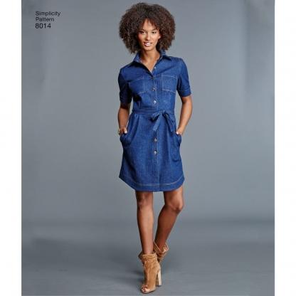 Simplicity – Patron Femme Chemisier, Tunique ou Robe n°8014/7883 du 34 au 52