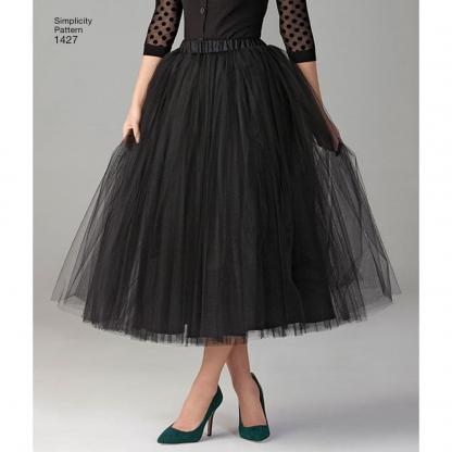 Simplicity – Patron Femme Jupe de Tulle en Trois Longueurs n°1427/7777 du 32 au 50