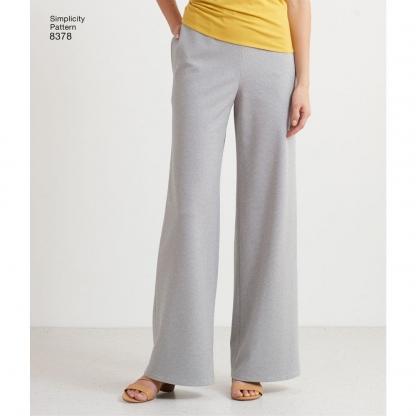 """Simplicity – Patron Femme Pantalon et Pantacourt """"Design Hacking"""" n°8378/7986 du XXS au XXL"""