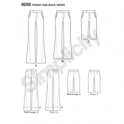 Simplicity – Patron Femme Pantalon et Short n°8056/7894 du 38 au 56