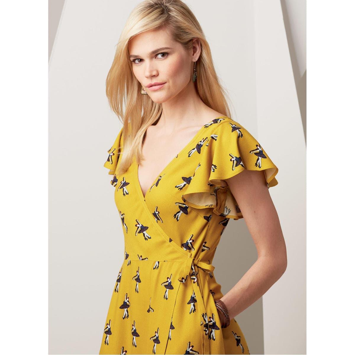 Coudre Femme Patterns Coup De – 36 Vogue Robe V9251 Du 52 Patron Au Yf76bgy