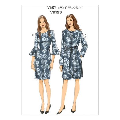 Vogue Patterns – Patron Femme Veste, Ceinture et Robe V9123 du 34 au 50