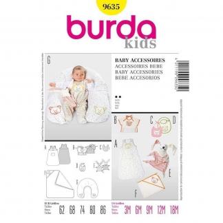 Burda Style – Patron Enfant Accessoires Bébés n°9635 du 62 au 86
