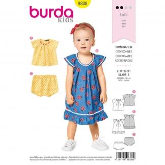 Burda Style – Patron Enfant Blouse et Culotte n°9338 du 68 au 98