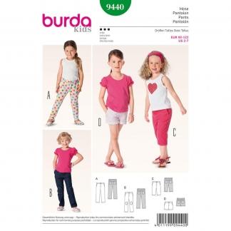Burda Style – Patron Enfant Pantalon et Short n°9440 du 92 au 122