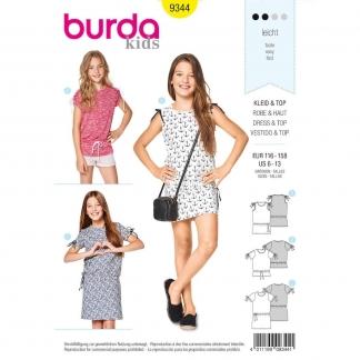 Burda Style – Patron Enfant Robe et Haut n°9344 du 116 au 158