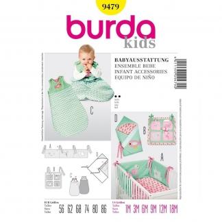 Burda Style – Patron Enfant Trousseau Bébé n°9479 du 56 au 86