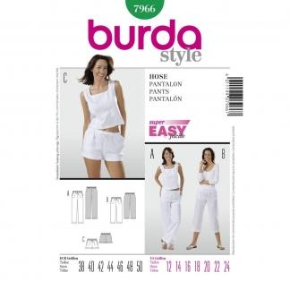 Burda Style – Patron Femme Pantalon et Shorts n°7966 du 38 au 50