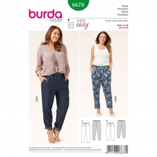 Burda Style – Patron Femme Pantalon n°6678 du 44 au 56
