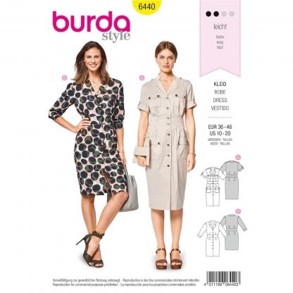 Burda Style – Patron Femme Robe Chemise n°6440 du 38 au 48