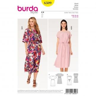 Burda Style – Patron Femme Robe avec Coulisse Elastiquée à la Taille n°6509 du 36 au 46