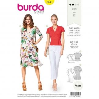 Burda Style – Patron Femme T-shirt et Robe Portefeuille n°6443 du 34 au 46