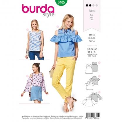 Burda Style – Patron Femme Top avec Empiècement n°6405 du 34 au 44
