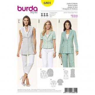 Burda Style – Patron Femme Veste et Gilet n°6801 du 36 au 46