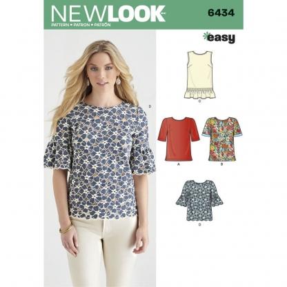 New Look – Patron Femme Top n°6434 du 36 au 48