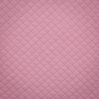 Sélection Coup de coudre - Tissu Jersey de Coton Matelassé Uni Couleur Vieux Rose