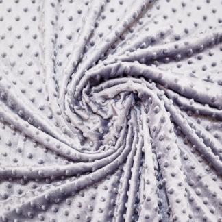 Sélection Coup de coudre - Tissu Minky Polaire à Pois en Relief Uni Couleur Gris