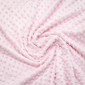 Sélection Coup de coudre - Tissu Minky Polaire à Pois en Relief Uni Couleur Rose