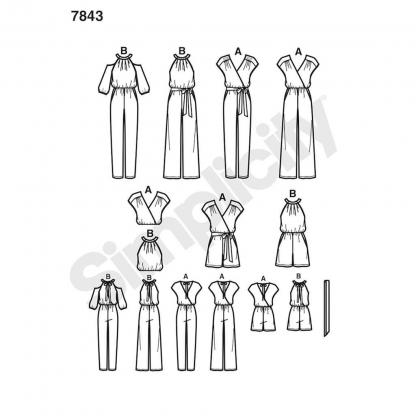 Simplicity – Patron Femme Combinaison n°7843 du 32 au 50