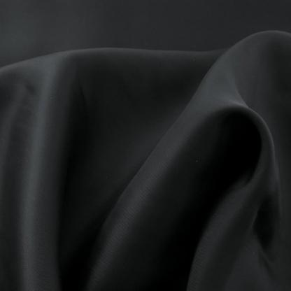 Bemberg - Doublure Taffetas de Cupro Fiber et Acetate Uni Couleur Noir