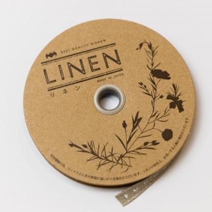 Best Quality Ribbon - Ruban en Lin Bio Brodé Pois Coloris Or Argent Métallisé