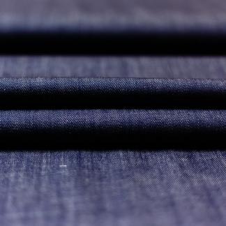 C. Pauli - Tissu Denim de Coton Bio Uni Couleur Jean Bleu