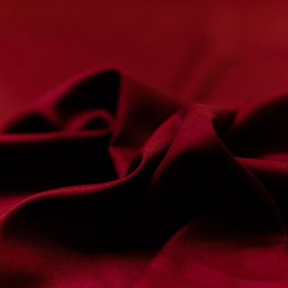 C. Pauli - Tissu Soft Twill de Coton Bio Uni Couleur Rouge Tango