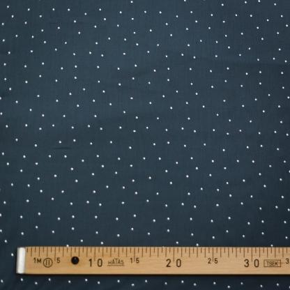 """C. Pauli - Tissu Voile de Coton Bio Imprimé Pois Scintille """"Glitter Dots"""" sur le Fond Gris"""