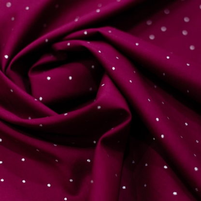 """C. Pauli - Tissu Voile de Coton Bio Imprimé Pois Scintille """"Glitter Dots"""" sur le Fond Rose"""