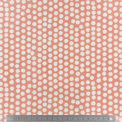 Fryett's - Tissu Toile de Coton Enduit Spotty Orange