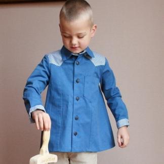 Gasparine – Patron Enfant Chemise Mixte Goéland 4-12 ans