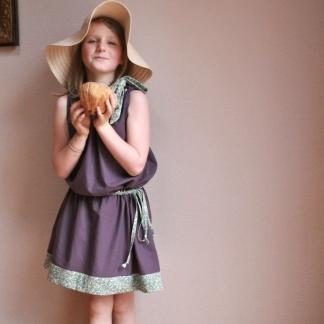Gasparine – Patron Enfant Robe ou Top à Foulard Colette 4-12 ans