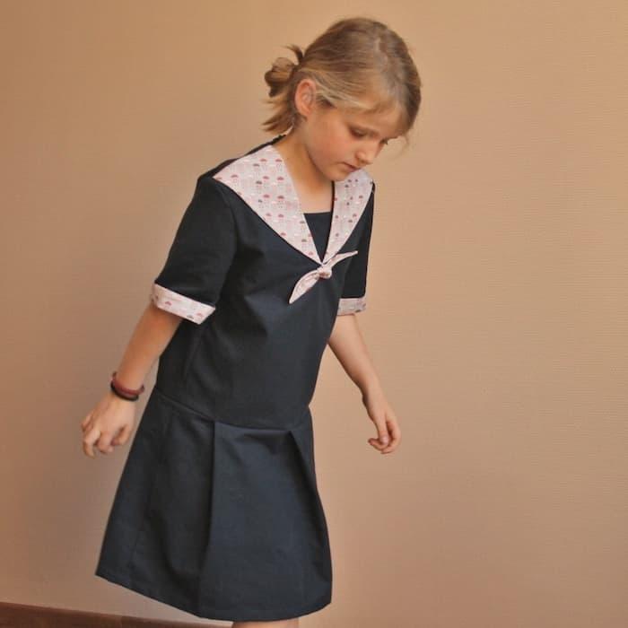 1f000d216f30d Gasparine – Patron Enfant Robe Taille Basse Marinette 3-10 ans ...