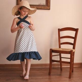 Gasparine – Patron Enfant Top ou Robe Croisette 4-12 ans