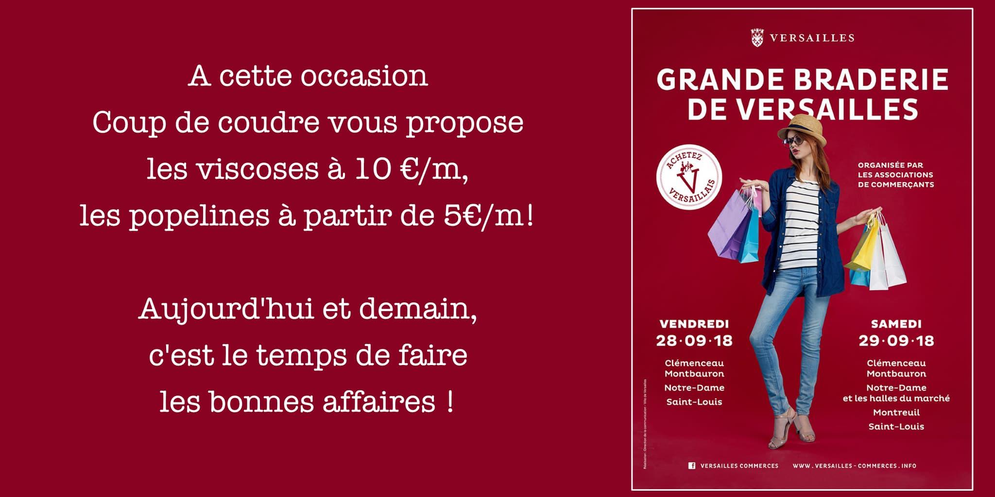Coup de coudre @ Grande Braderie de Versailles (Sept 2018)