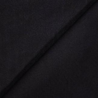 Sélection Coup de coudre - Tissu Entoilage de Coton Superfine Thermocollant Uni Couleur Noir