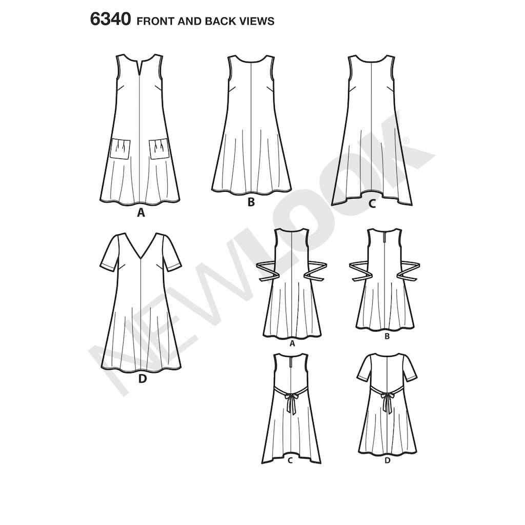 New Look 6340 A Line Patron de Couture Facile pour Robes d/ét/é