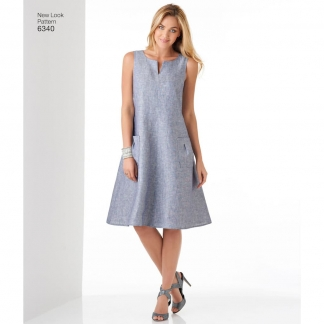 New Look – Patron Femme Robe Trapèze n°6340 du 36 au 48