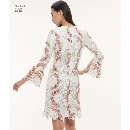 New Look – Patron Femme Robe Trapèze n°6540 du 36 au 48
