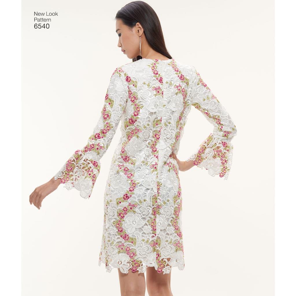 e8a307cfb187f New Look – Patron Femme Robe Trapèze n°6540 du 36 au 48