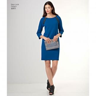 New Look – Patron Femme Robe n°6411 du 38 au 50