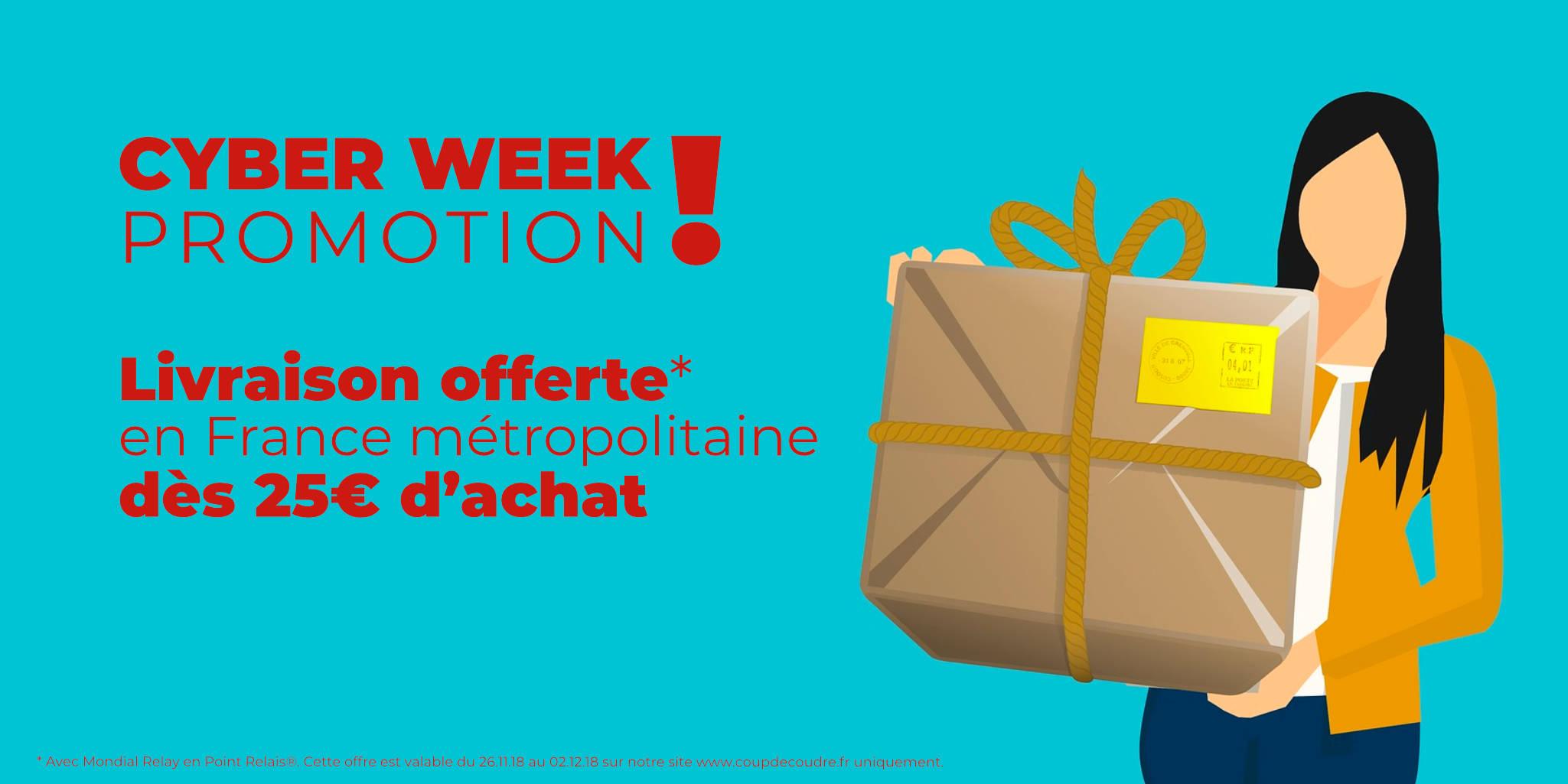 Cyber Week promo @ Coup de coudre