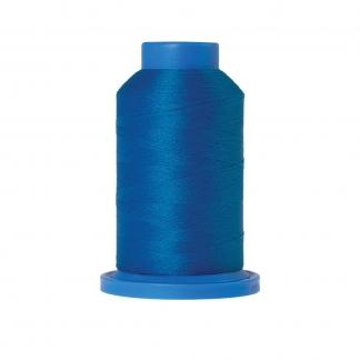 Mettler – Fil Mousse Seraflock Coloris Bleu Moyen (1000 m)