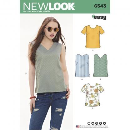 New Look – Patron Femme Haut Top n°6543 du 38 au 50